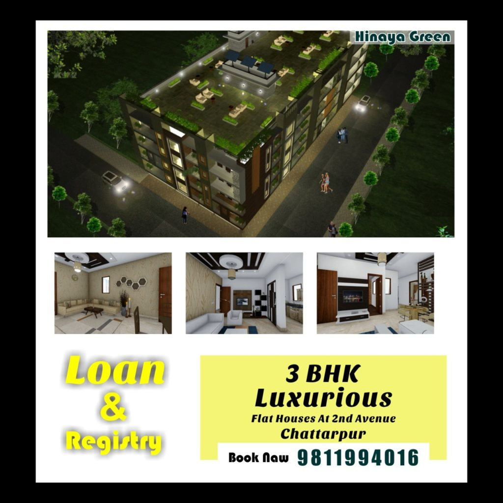 3 bhk flats in south delhi