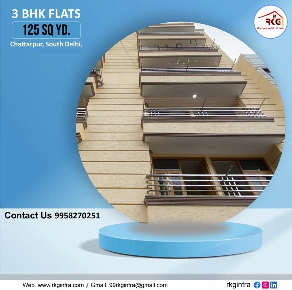 3 BHK Flats Near Chattarpur Image