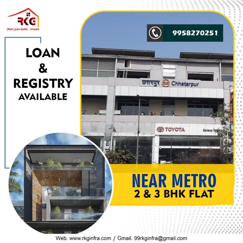 2 BHK 3 BHK Registry Flats in Chattarpur
